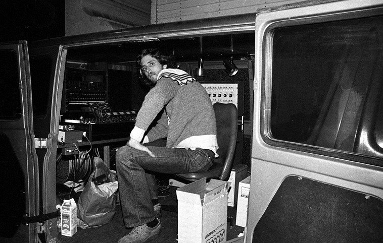 Mobile Recording Unit outside Lobero Theater November 12, 1981 w/ engineer Dennis Moody capturing it all For Nimbus Records (now called Nimbus West)---- photo by Mark Weber