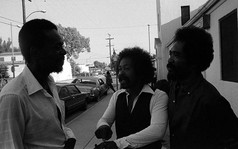 Horace & Moises Obligicion and Lester Robertson -- photo by MW  --- June 28, 1981