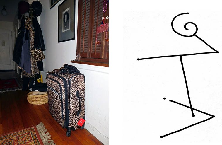Sheila's luggage ensemble ready to go -- November 18, 2o16 NYC -- digital photo by Mark Weber -- She's coming soon to New Mexico for gigs: Thursday March 23, 2o17 at Outpost Performance Space, Albuquerque; Friday March 24 at Harwood Museum in Taos; and Saturday March 25 at Unitarian Universalist Congregation in Santa Fe, with her quartet of Darek Oles (bass) and John Trentacosta (drums) and Alan Pasqua (piano) who plays on SJ's 1975 album CONFIRMATION and used to live in Santa Fe and I think lives in Los Angeles these days and is bringing Darek -- John is from Staten Island and lives in Santa Fe