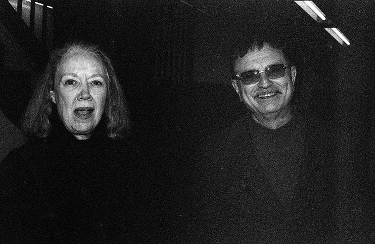 Connie Crothers & Roger Mancuso -- New York subway -- December 5, 2004 -- photo by Mark Weber