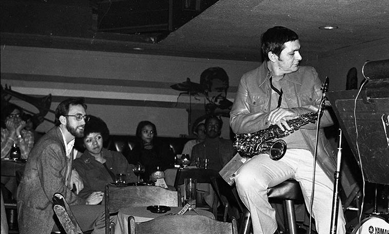 Art Pepper at Donte's -- January 1979 -- photo by Mark Weber ---- At the same time I was experiencing the emergence of David Murray in Claremont and all that free jazz with Larry, I was hitting the North Hollywood jazz clubs and caught Pepper ten dozen times, he was so electric ---- I saw similarities between he and David Murray's approach, maybe because they both always went for it total burn down the barn ---- Pepper those years never laid back, everything was do or die