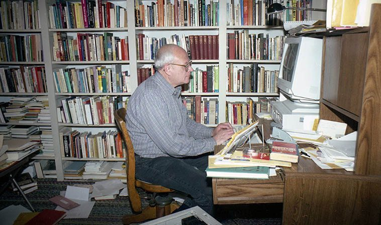 My good friend Todd Moore in his study -- Albuquerque March 14, 1994 -- photo by Mark Weber