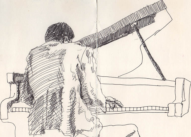 HORACE TAPSCOTT from Kirk Silsbee's sketchbook -- 1980s Los Angeles