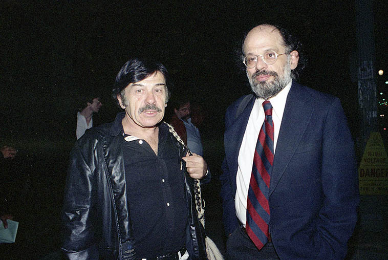Two poets: Harold Norse and Allen Ginsberg -- photo by Mark Weber -- February 19, 1982 Los Angeles