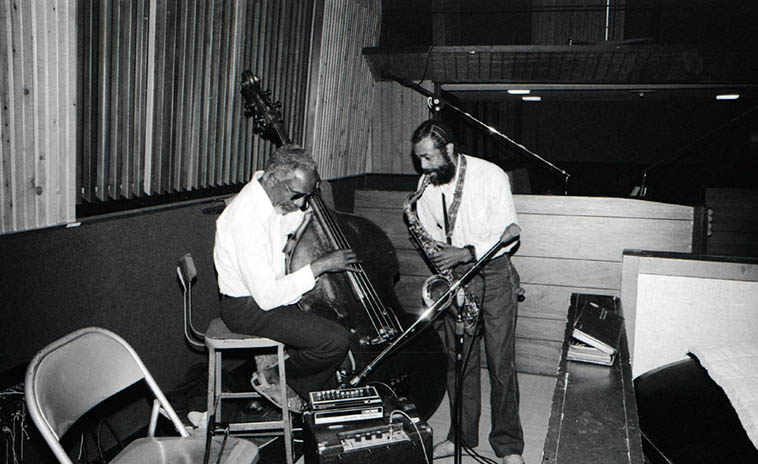 David Bryant and Billie Harris warming up at United-Western Studios on Sunset for session #2 that produced the cd I WANT SOME WATER (Nimbus West Records) -- May 3, 1980 Los Angeles -- photo by Mark Weber