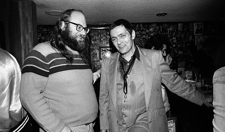 An enlarged version of this photo hung for years in Dwain's bookstore The Magic Door in Upland, California ---- that's Art Pepper and Dwain Kaiser (who I spoke about in my previous JFM posting) at Donte's, North Hollywood -- January 16, 1982 -- photo by Mark Weber