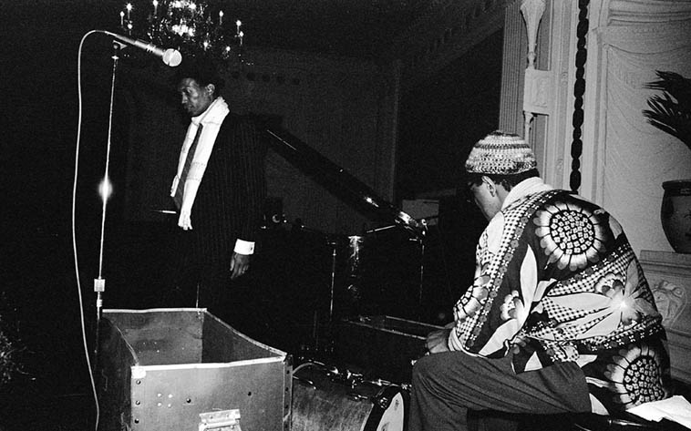 Don Cherry and Ed Blackwell in Los Angeles -- January 15, 1982 -- photo by Mark Weber