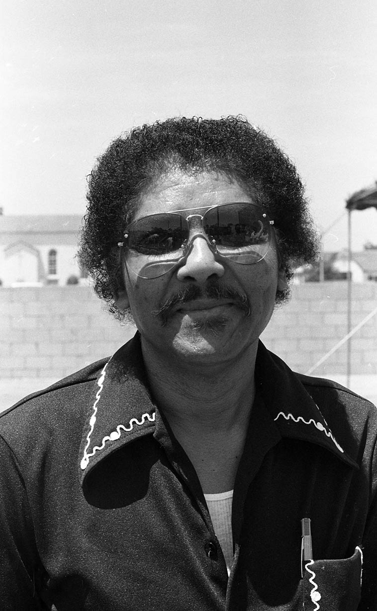 The incomparable Jimmy Cleveland at Watts Towers Jazz Festival -- July 7, 1979 -- photo by Mark Weber -- Jimmy is listed at Tom Lord Jazz Discography playing trombone on 524 recording sessions, from 1950 with Lionel Hampton to 1991 with Teddy Edwards, and that's only the jazz sessions . . . .