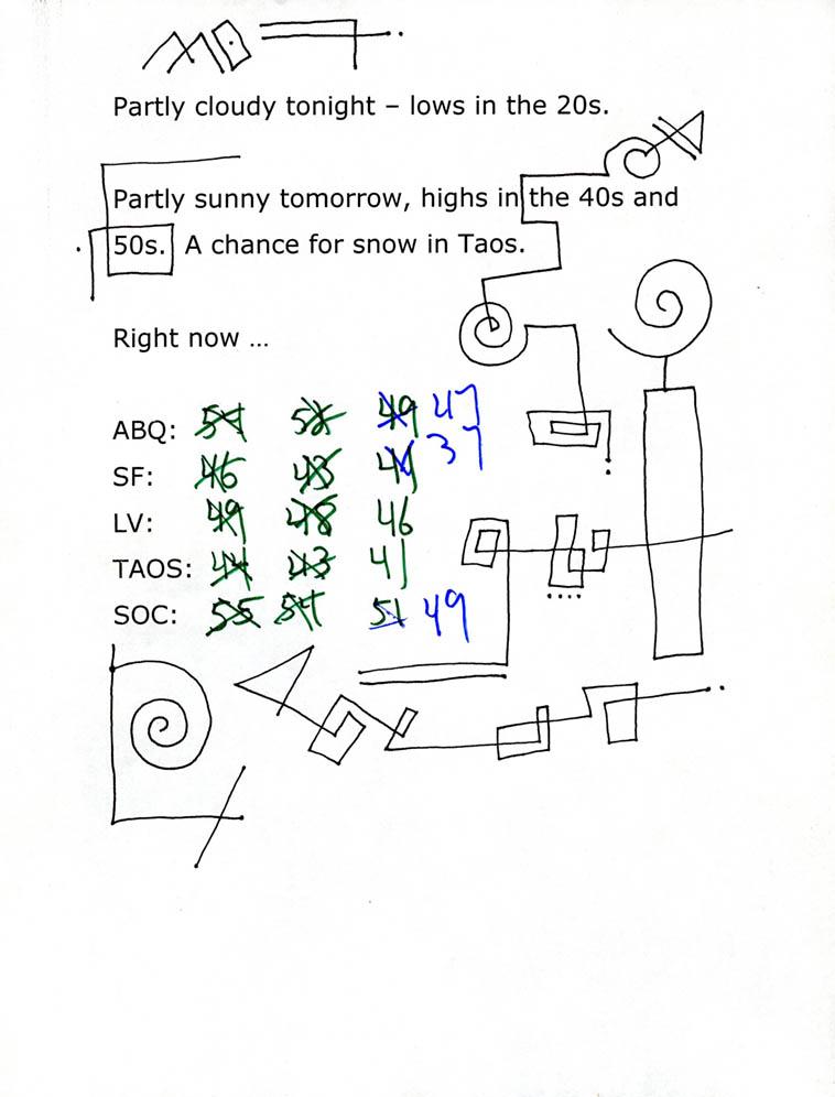 Doodles by Mark Weber -- 22dec2o17