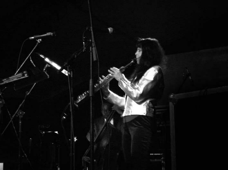 Playing soprano sax at the Uncool Festival in Switzerland (my quartet with pianist Bobby Few, bassist Wayne Dockery & drummer Steve McCraven) May 6, 2005. (photographer unknown). Music from this concert is released on my CD: ANIMAL GRACE.