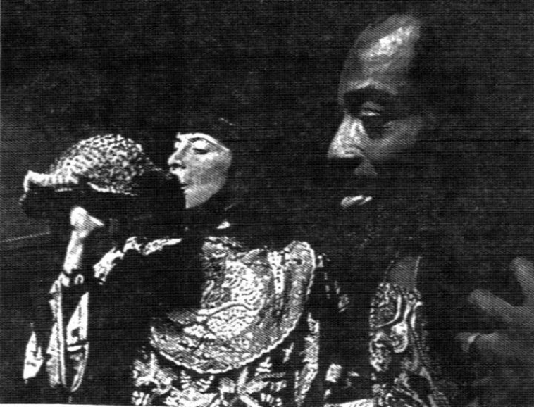 Don Rafael Garrett and Kali Z Fasteau, playing in Amsterdam, NL circa 1975 (photographer unknown, from a newspaper article)