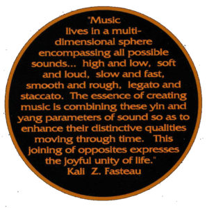 "Summation of my philosophy / theory of Spontaneous Composition based on Taoism: ""The Tao of Music"" (c) 1974, published in 5 languages in music magazines internationally."