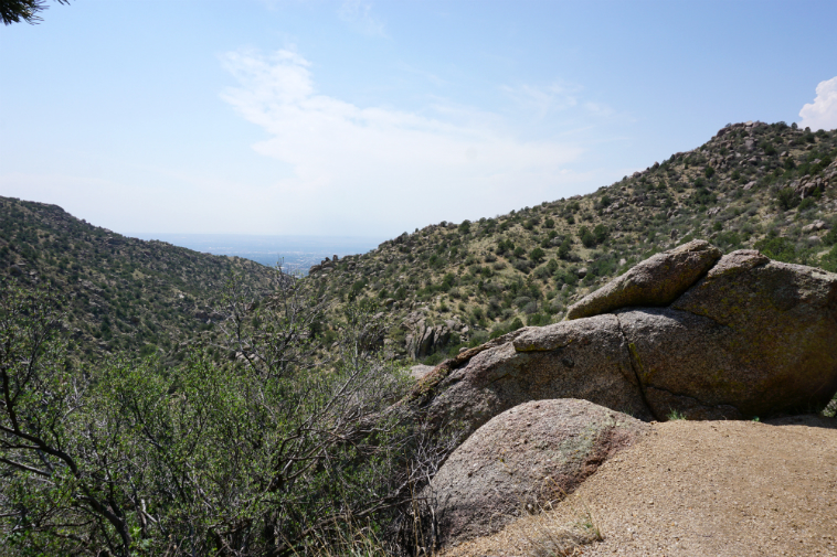 Albuquerque as seen from the Sandia Mountains ---- August 8, 2o18 ---- photo by MW