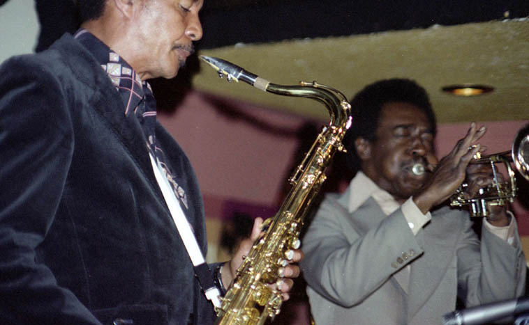 Harold Land & Blue Mitchell at Donte's – July 10, 1977 ---- photo by Mark Weber