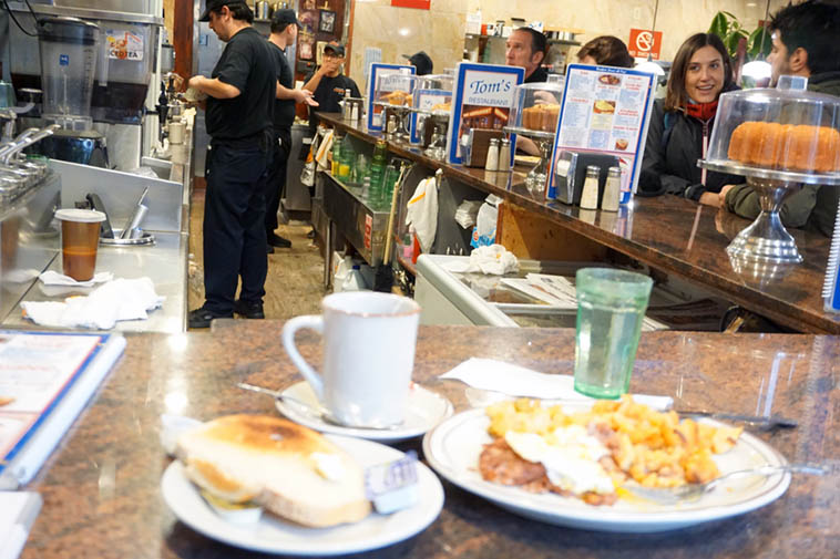 I wish my plate of fried eggs & corned beef hash & potatoes was more in focus ------ After my breakfast at Tom's (112th & Broadway) I jumped on the 1 Train down to 26th and the Jazz Record Center ---- Later, around 3:30 heading back to my hotel room on 103rd, a girl gets on the uptown train who is the perfect image of Laura Nyro 1967 with long gorgeous black hair, I told myself she's no doubt heading to the Bronx where Laura grew up, where it seems that gene pool still exists ---- November 15, 2o18 – photo by Mark Weber