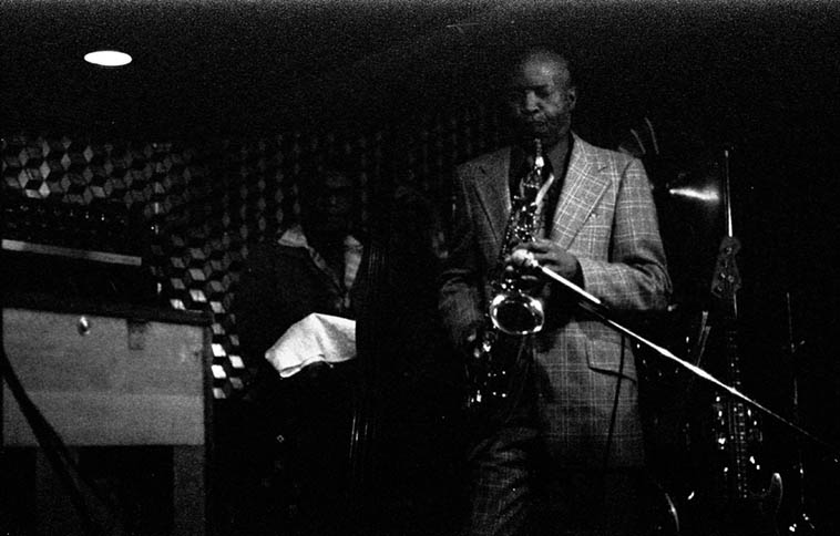 Eddie Cleanhead Vinson ---- November 16, 1976 backed by Jack Wilson(piano), Larry Gales(bass), Bruno Carr(drums) – photo by Mark Weber @ the Beverly Cavern, 4289 Beverly Blvd, Los Angeles