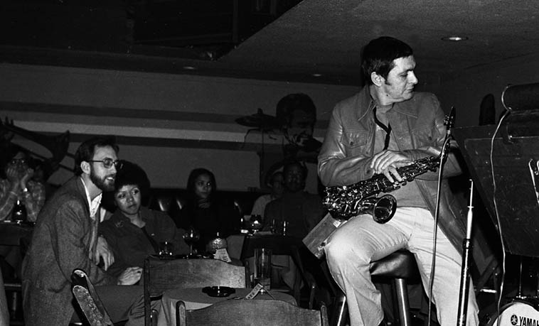 Art Pepper at Donte's ---- January 1979 ---- photo by Mark Weber