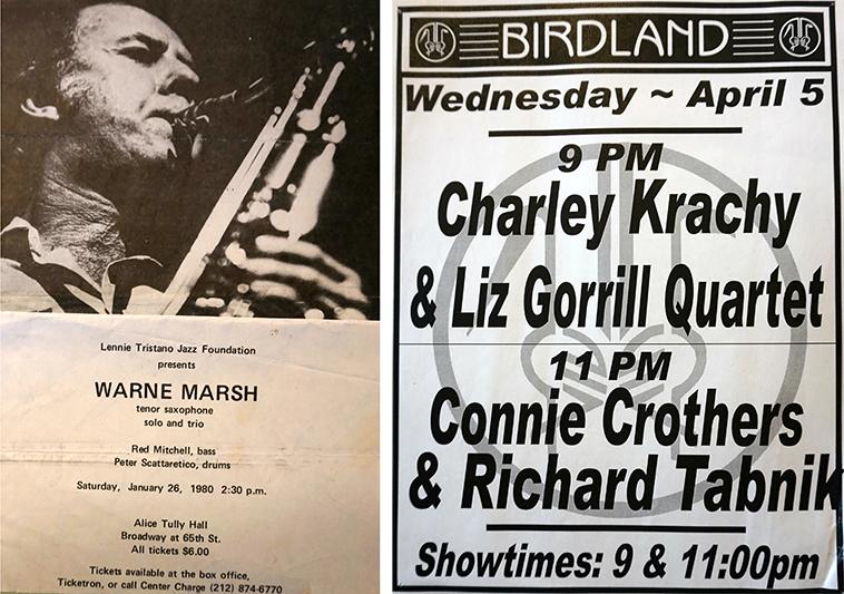 Birdland 1992 + Warne Marsh concert Charley attended