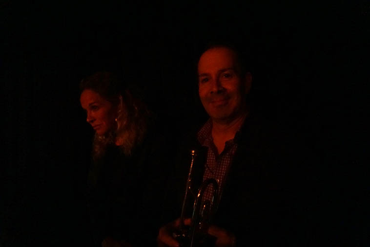 Two trumpet players: Christine Fawson & Paul Gonzales ---- photo by MW