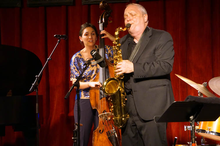Katie Thiroux and Ken Peplowski ---- April 11, 2o19 – Outpost Performance Space ---- photo by Mark Weber