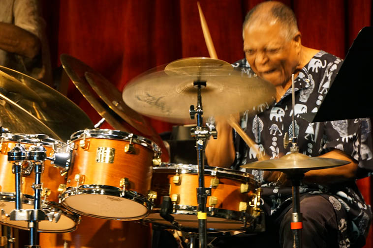 Billy Hart with The Cookers ---- June 14, 2o19 – Outpost Performance Space – photo by Mark Weber