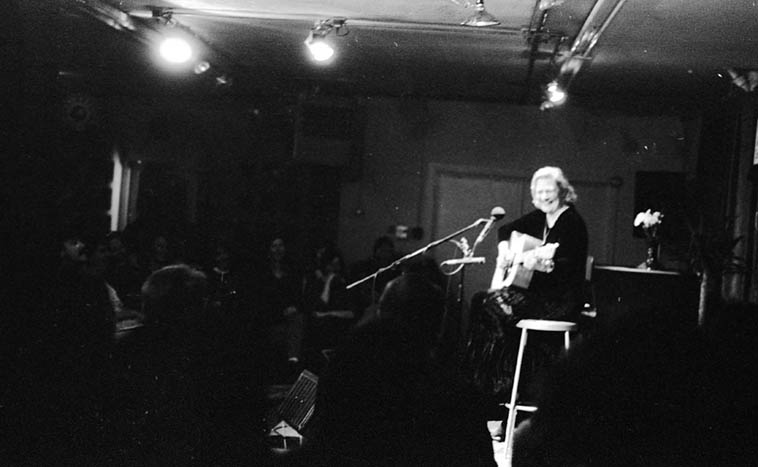 Rosalie Sorrels was renowned for singing old songs of life and people and telling great stories but was also a jazz nut ---- Outpost Performance Space ---- December 8, 1995 ---- photo by Mark Weber