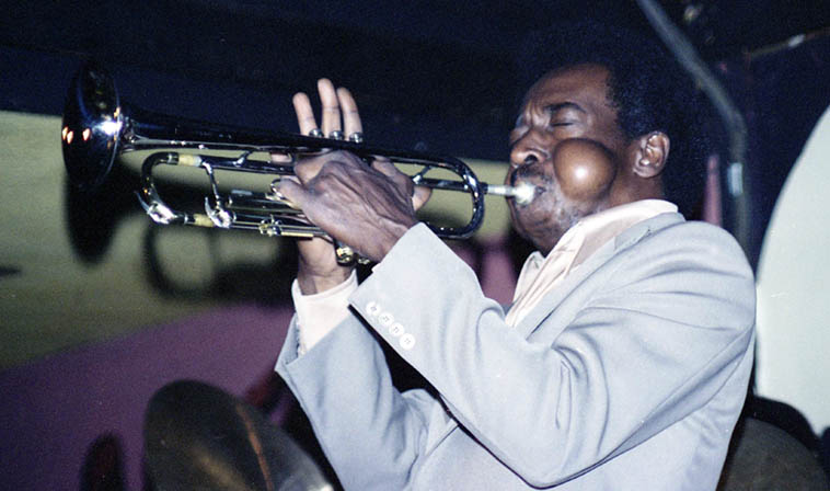 Blue Mitchell at Donte's, North Hollywood, California – July 10, 1977 ---- photo by Mark Weber