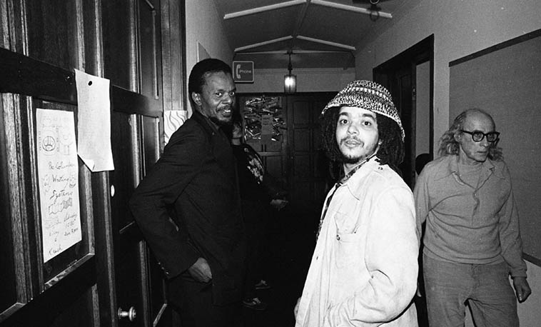 Horace Tapscott and the trumpeter, Rasul Siddik – February 12, 1981 San Francisco ---- photo by Mark Weber