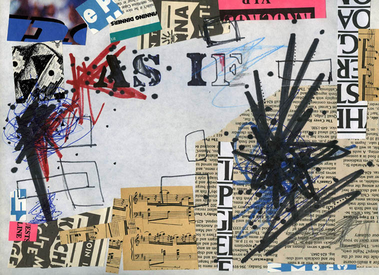 """As If "" collage by MW ---- March 29, 1994"