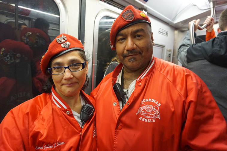 Guardian Angels on the subway – October 26, 2o19 – photo by Mark Weber