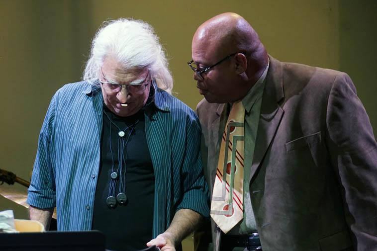 Vinny Golia and William Roper ---- November 17, 2o19 ---- photo by Mark Weber