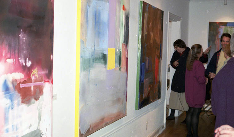 Lee Deffebach exhibit @ Art Barn, Salt Lake City ---- this was opening night February 24, 1991 ---- photo by Mark Weber