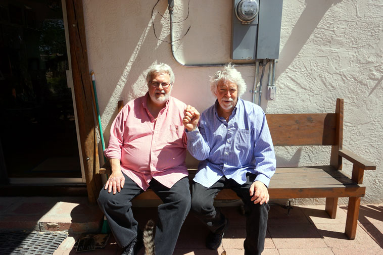 John Breckow & Mark Weber ---- April 2, 2o19 Albuquerque USA snapped by Janet on our patio