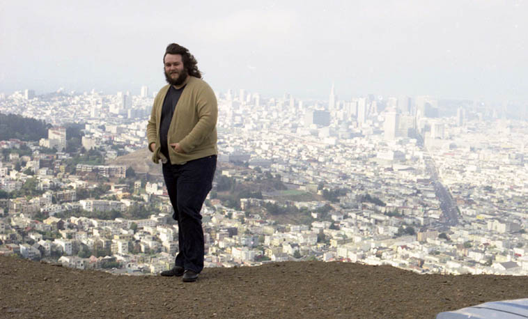 John on Twin Peaks over-looking San Francisco ---- August 13, 1977 ---- photo by Mark Weber