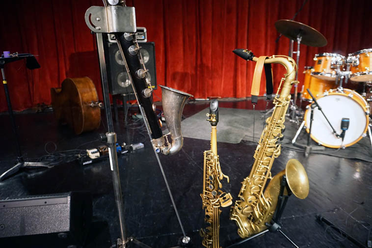 Bennie Maupin's horns ---- October 31, 2o19 ---- photo by Mark Weber