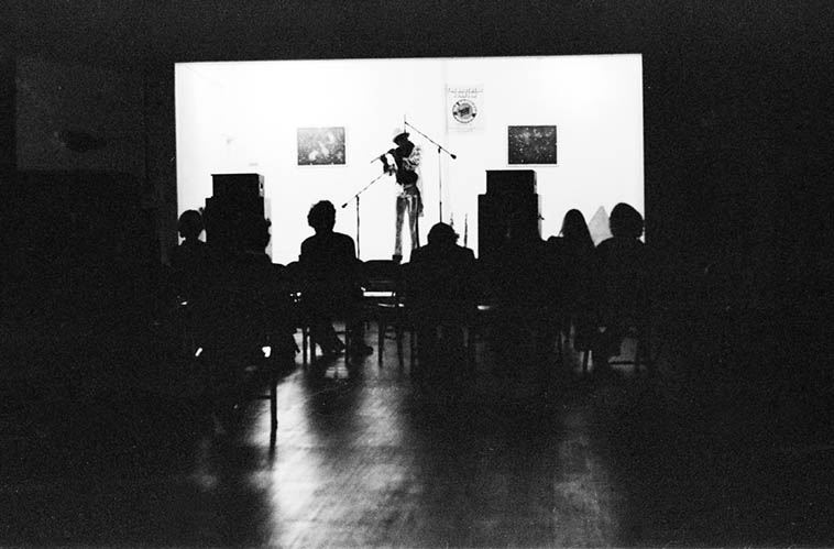 """Julius Hemphill performing his solo piece """"Roi Boye & the Gotham Minstrels"""" in Los Angeles at Studio Z, 2409 W. Slauson ---- March 22 & 23, 1977 (I was there both nights helping Bruce Bidlack with the sound, and sending pre-recorded tapes to Julius ----- Quite an amazing & involved composition)"""
