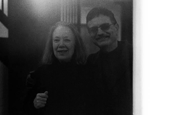 Connie Crothers & Roger Mancuso after the jackboot TSA's at Laguardia fried my film ----- photo by Mark Weber ---- December 5, 2004 NYC