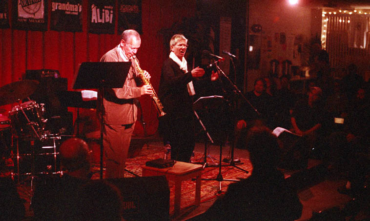 Steve Lacy & Irene Aebi ---- March 20, 2000 Albuquerque ---- photo by Mark Weber