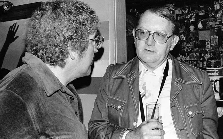 Two tenor players named Bob: Bob Hardaway and Bob Cooper at Donte's as members of Prez Conference ---- May 27, 1979 ---- photo by Mark Weber