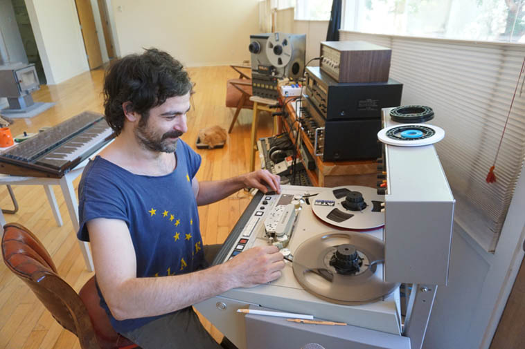 Recent arrival in Albuquerque ---- Matt Whitehurst hard at it transferring reels from the Nimbus West Records vaults ---- May 18, 2020 photo by MW ---- Coming up real soon is a 3-Lp release of Pan Afrikan Peoples Arkestra Live at Century City Playhouse 1979 and it's a doozie ---- Matt has many further discoveries from the archives to drop on us, I've been over there and my mind is sufficiently blown ---------- NOTE: Please don't support the bootleggers, there's been some incursions into Nimbus in that vein. The only licensed company to release Nimbus is Pure Pleasure who are doing exact replications of already previously released Nimbus LPs. Nimbus West is still very much active and Matt is taking over direction while Tom Albach is still in the mix, and they'll be releasing heretofore previously unreleased music from Horace Tapscott and others from his circle.