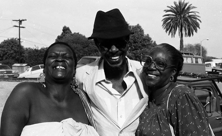 Linda Hill & Horace & Cecilia Tapscott ---- September 23, 1984 Los Angeles ---- photo by Mark Weber