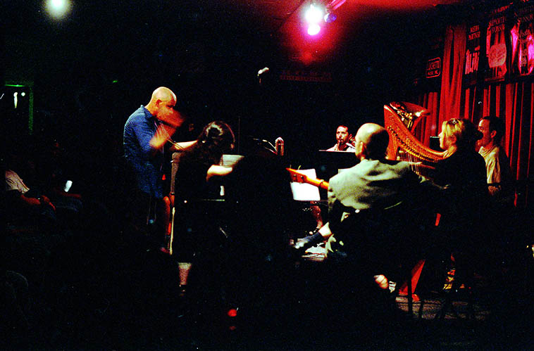 Out of Context in concert at Outpost Performance Space ---- August 11, 1997 ---- photo by MW
