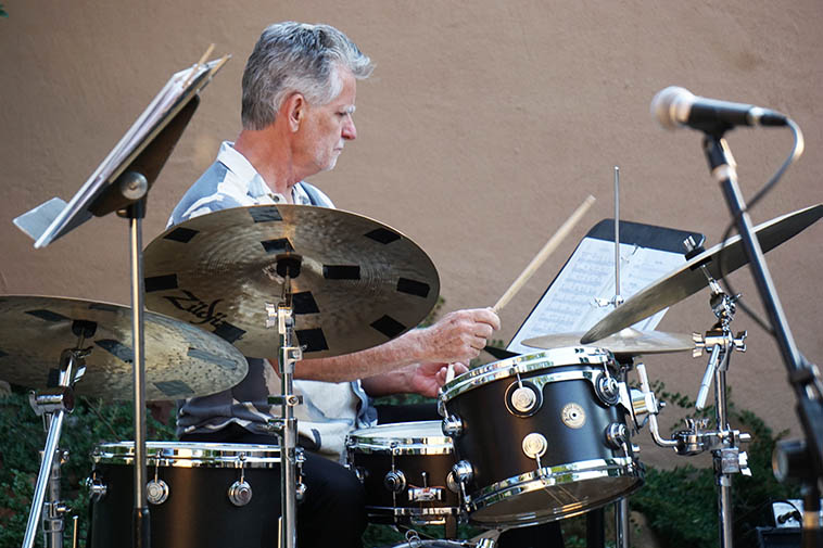 Cal started early with drums ---- Every Saturday morning he'd take the bus from his hometown Canton, Ohio, north to Cleveland ---- 1963-ish? for drum lessons with the legendary Charley Wilcoxon in the Euclid Arcade (5-story indoor 1890 shopping mall) Mr Wilcoxon was teacher to Philly Joe, Joe Morello, Steve Smith, and Cal Haines ---- (See JFM page SPLANG, SPLANG-A-LANG for Charlie's method book)