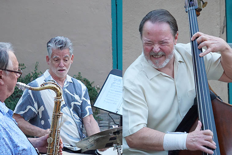 "Long Shot Trio ---- photo by MW (we recorded this concert but LLANO was recorded months later) ""Llano"" is New Mex term for the open prairie east of Albuquerque over the mountains, also known as Llano Estacado or Staked Plains"