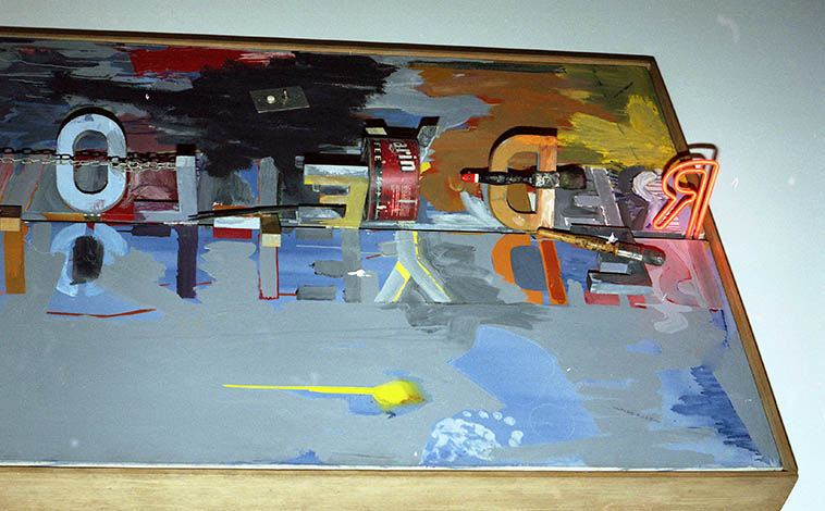 """Jasper Johns """"Field Painting""""(1963-1964) at National Gallery of Art, Washington DC photo by MW March 19, 1995"""