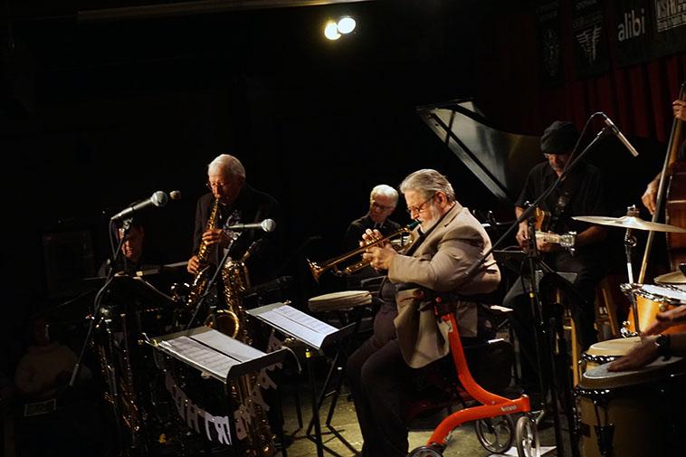 Arlen & Bobby Shew! May 9, 2019 ---- w/ Demi DiSanti(guitar), Steve Figueroa (electric piano), Sid Fendley (Steinway), Milo Jaramillo(bass) ---- photo by MW