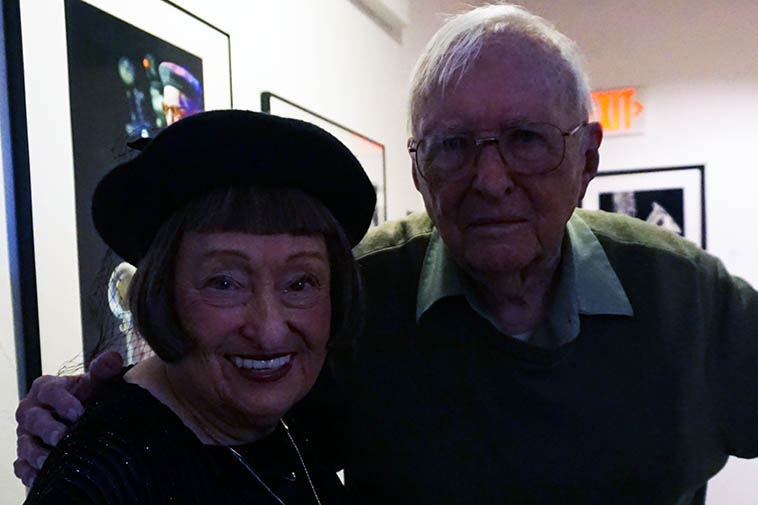 Sheila Jordan & Arlen ---- both celebrating 70 years in jazz ---- Arlen's birthday party was the week before and this night was Sheila with her Quartet at Outpost Performance Space ---- May 16, 2019 ---- photo by MW